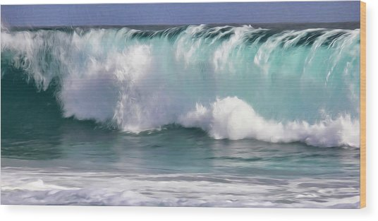 The Rolling Wave Wood Print