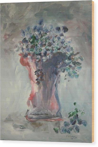The Roman Vase Wood Print by Edward Wolverton
