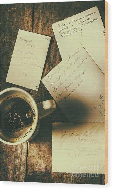 The Romantic Writers Loft Wood Print