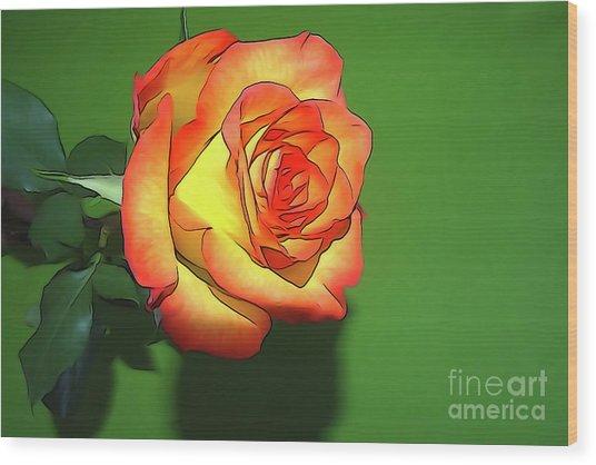The Rose 4 Wood Print