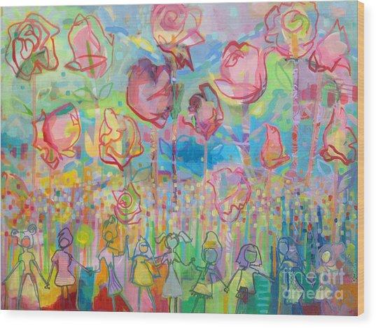 The Rose Garden, Love Wins Wood Print