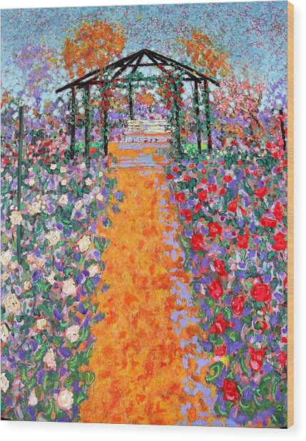 The Rose Garden Wood Print by Richard Tuvey