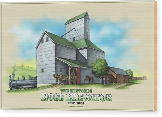 The Ross Elevator Wood Print