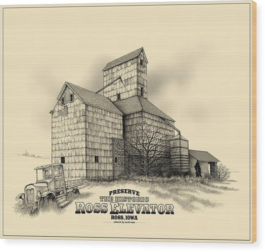 The Ross Elevator Version 2 Wood Print