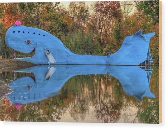 The Route 66 Blue Whale - Catoosa Oklahoma - IIi Wood Print