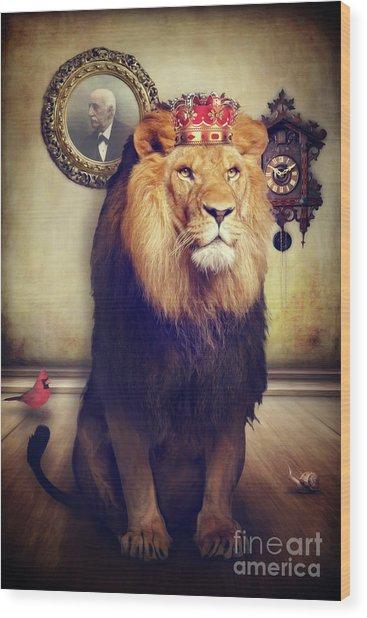 The Royal Lion Wood Print