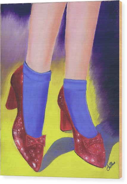 The Ruby Slippers Wood Print