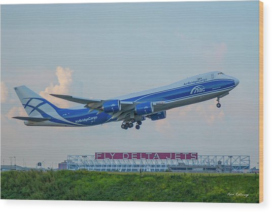 The Russian Connection Air Bridge Cargo Abc B747-8f Cargo Jet Art Wood Print