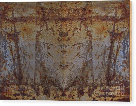 The Rusted Feline Wood Print
