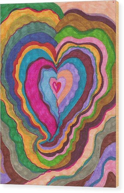 The Rythm Of Love Wood Print by Brenda Adams