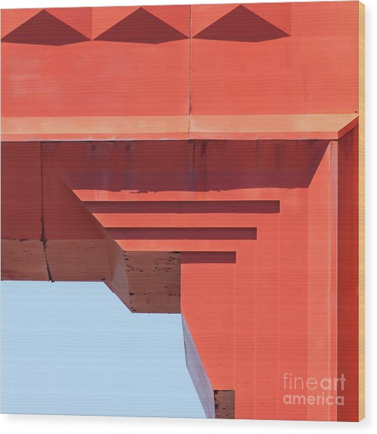 The San Francisco Golden Gate Bridge 5d2990sq Wood Print