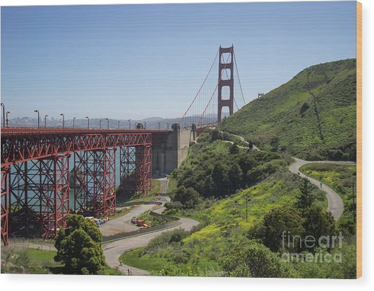 The San Francisco Golden Gate Bridge Dsc6139 Wood Print