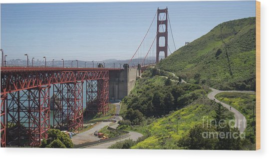 The San Francisco Golden Gate Bridge Dsc6139long Wood Print