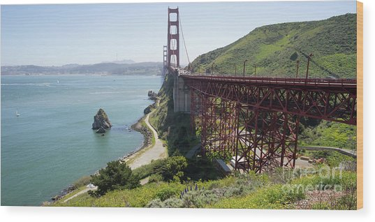 The San Francisco Golden Gate Bridge Dsc6146long Wood Print