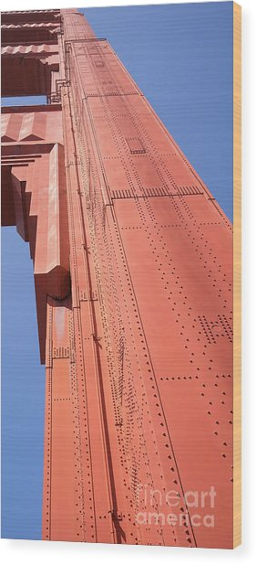 The San Francisco Golden Gate Bridge Dsc6189 Long Wood Print