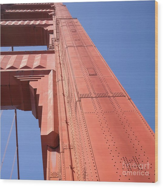 The San Francisco Golden Gate Bridge Dsc6189sq Wood Print