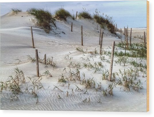The Sands Of Obx Hdr II Wood Print