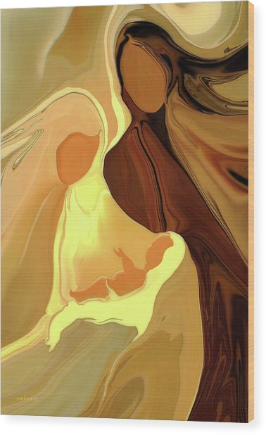The Saviour Is Born By V.kelly Wood Print