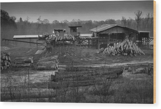 The Sawmill In Nacogdoches Wood Print