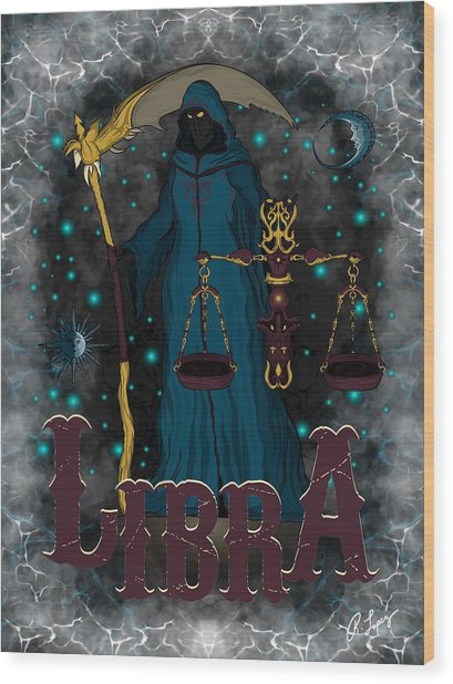 The Scale Libra Spirit Wood Print