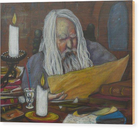 The Scholar Wood Print