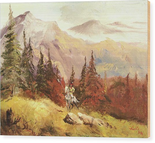The Scout Wood Print