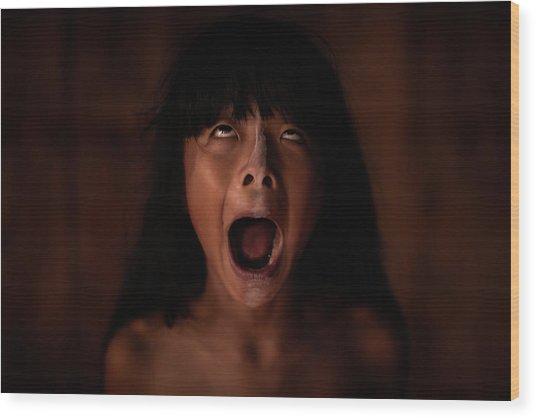 The Scream Wood Print