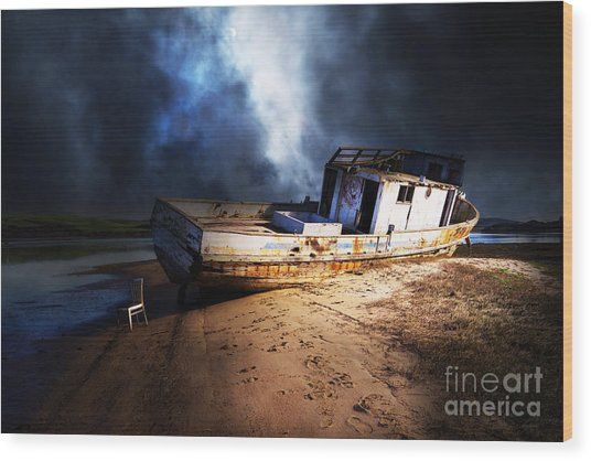 The Sea Never Gives Up Her Dead Dsc2099 Wood Print
