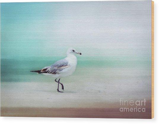 The Seagull Strut Wood Print