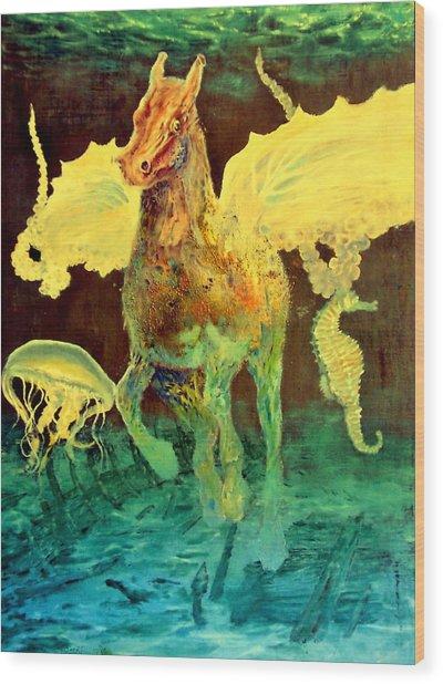 The Seahorse Wood Print