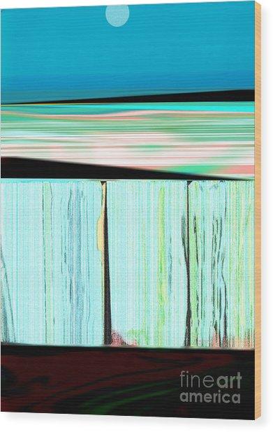 The Seawalls No. 1 Sunrise Wood Print