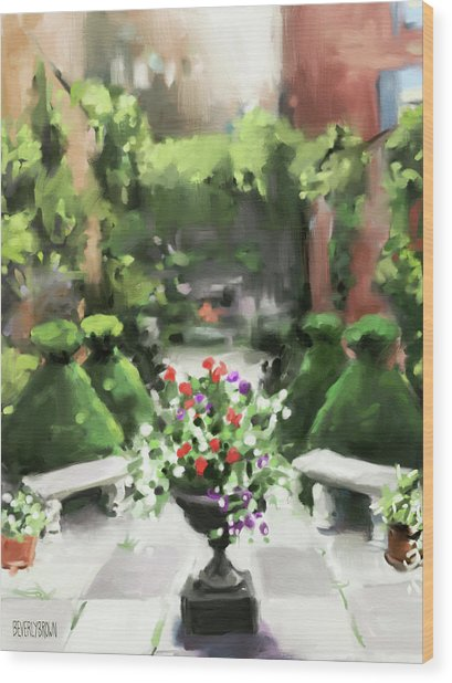 The Secret Garden Wood Print by Beverly Brown