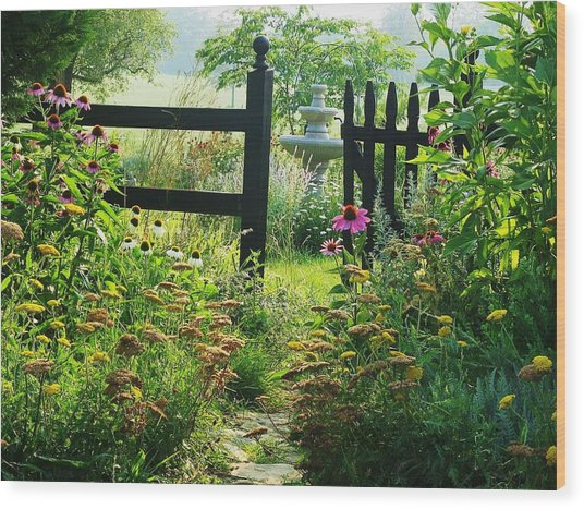 The Secret Garden Wood Print by Joyce Kimble Smith