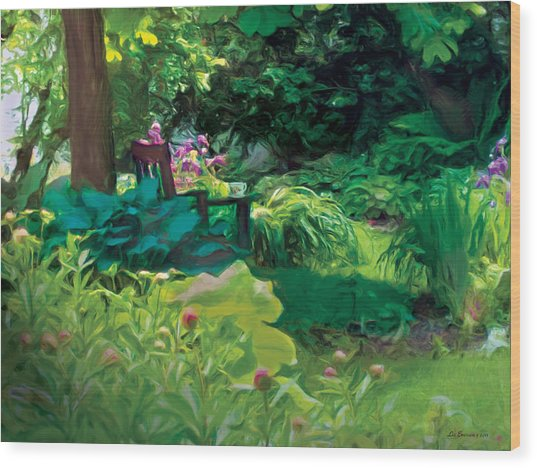 The Secret Garden Wood Print