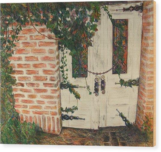 The Secret Garden Wood Print by Lois Guthridge