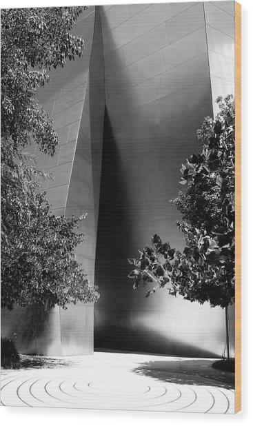 Wood Print featuring the photograph The Sensuous Secret Portal At Disney Hall by Lorraine Devon Wilke
