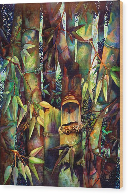 The Sentry Wood Print by Monica Linville