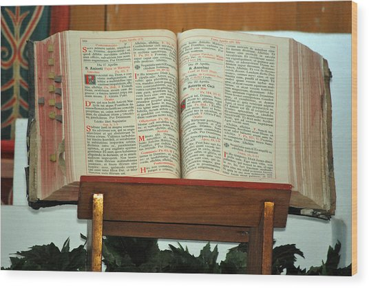 The Sermon Wood Print by Teresa Blanton