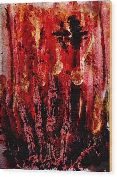 The Seven Deadly Sins - Wrath Wood Print