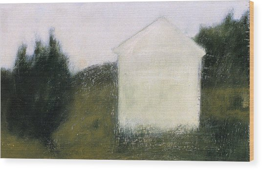 The Shed Wood Print by Ruth Sharton