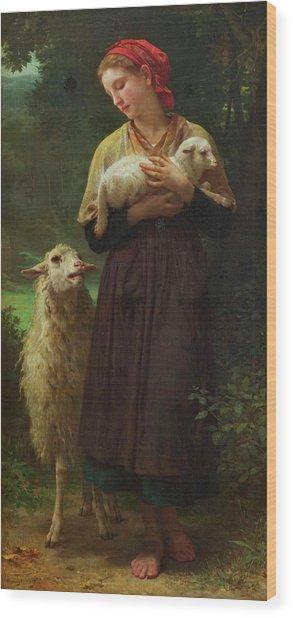 The Shepherdess Wood Print