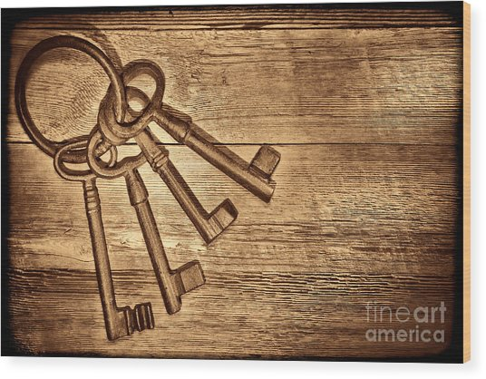 The Sheriff Jail Keys Wood Print