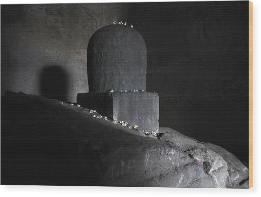 The Shiva Lingm  Wood Print by Chris Jurgenson