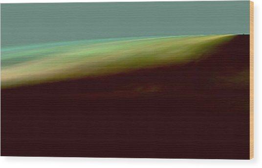 The Shore Of The Ocean Wood Print