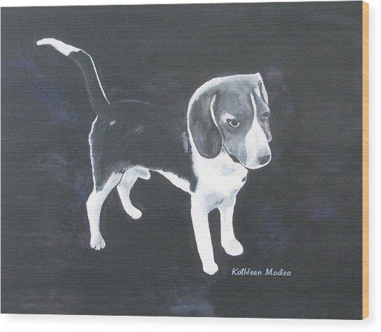 The Shy Beagle Wood Print