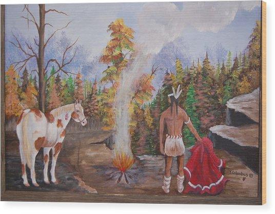 The Signal Wood Print by Janna Columbus
