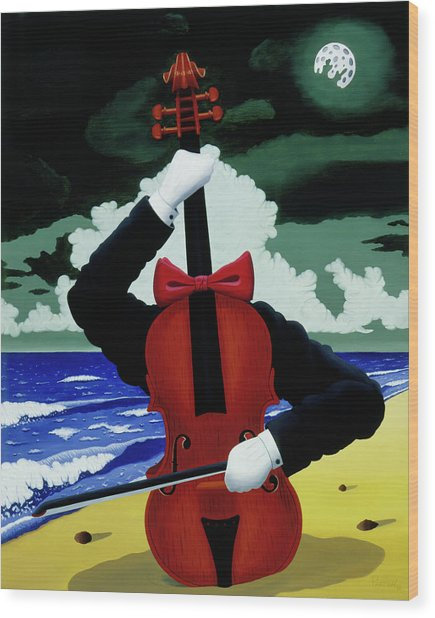 The Silent Soloist Wood Print