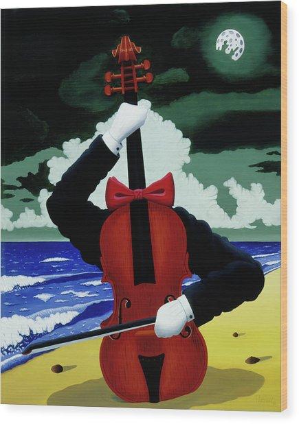 The Silent Soloist Wood Print