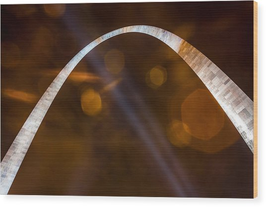 The Silver Gateway Arch Wood Print