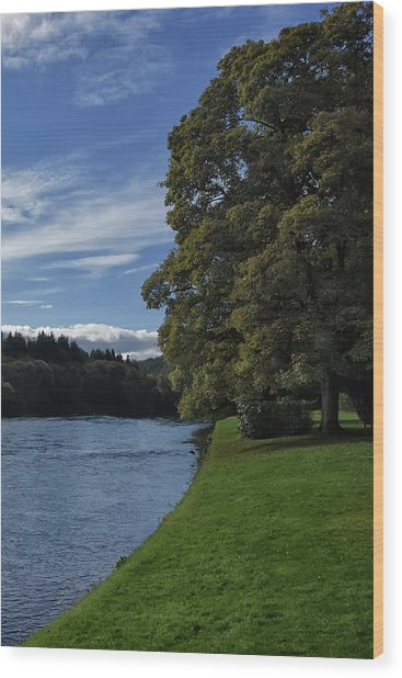 The Silvery Tay By Dunkeld Wood Print